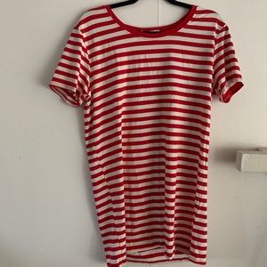 Dresses & Skirts - RED STRIPED T-SHIRT DRESS VARIOUS SIZES